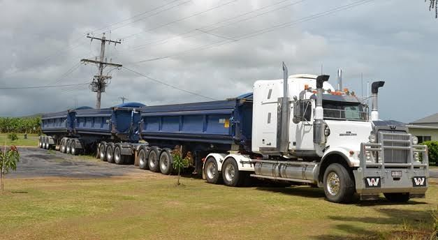 2009 AZMEB Triaxle Side Tipper Trailer for sale QLD