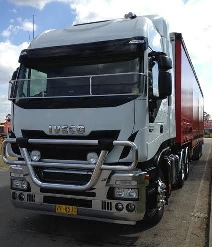 48 Foot Krueger Drop-Deck Tautliner Iveco Stralis AS-L560 Prime Mover Truck