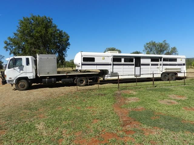 2005 Fuso 617 & 39ft Gooseneck Horse Transport for sale QLD