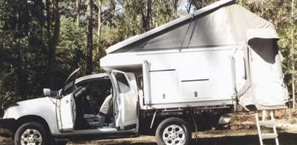 2012 TrayTek Tailgater Slide on Camper for sale QLD