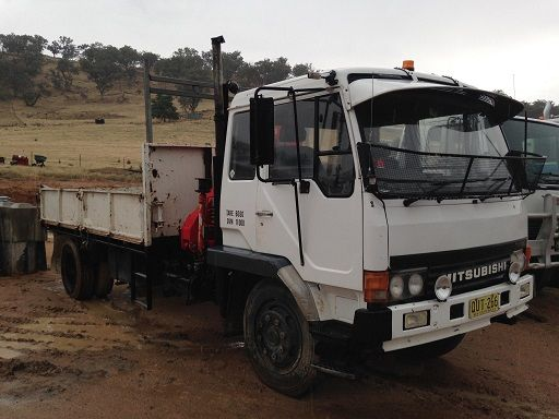 1996 Mitsubishi FK 417 Crane Truck for sale NSW Adelong