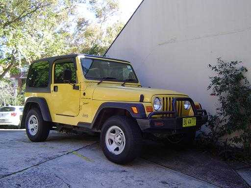 2002 Jeep Wrangler Sport 4WD for sale NSW Double Bay