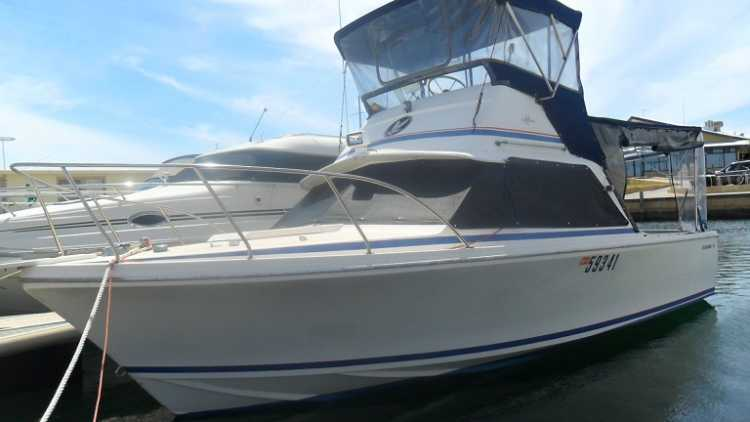 Bertram 25 Popular Midsize Flybridge Launch Boat for sale WA