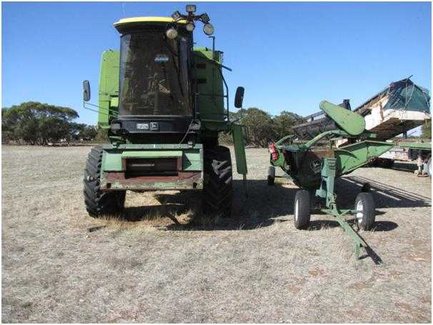 John Deere 1056 Header and Volvo F12 Prime Mover Truck for sale SA